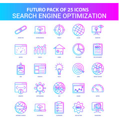 25 blue and pink futuro search engine vector