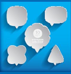 5 speech bubbles vector image