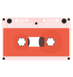 A set of outdated audio cassettes vector