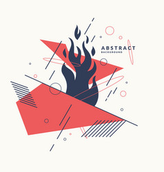 Abstract background with dynamic figures vector