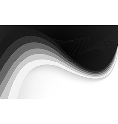 Abstract black background with wave vector image vector image