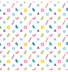 abstract colorful seamless pattern trendy memphis vector image