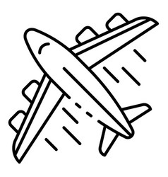 Airplane delivery icon outline style vector