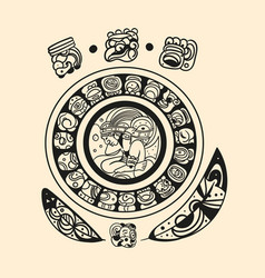 ancient mayan tattoo picture vector image