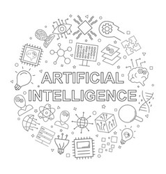 artificial intteligence pattern vector image