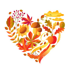 Background with stylized autumn items vector