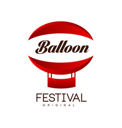 balloon festival original design creative badge vector image
