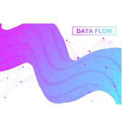 Big data flow artificial intelligence and machine vector