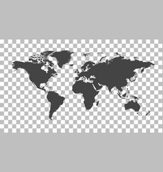 Blank grey political world map worldmap template vector