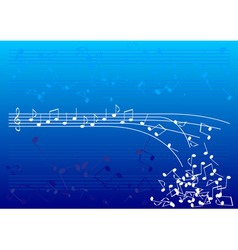 blue notes vector image