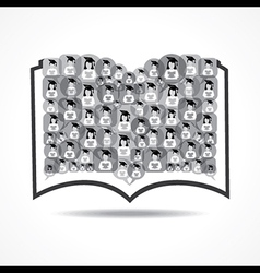 Book Icon graduate student icons vector image