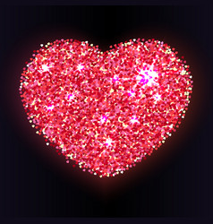 bright colored heart with petals vector image