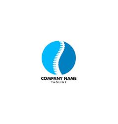 Chiropractic concept logo design template vector