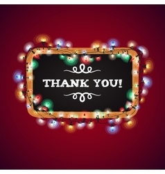 Christmas Lights Thank You Banner vector