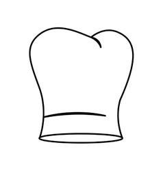 Contour of chefs hat irregular vector