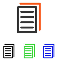 Copy document flat icon vector