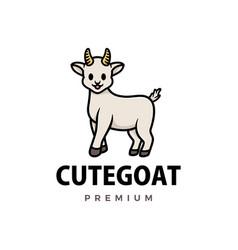 cute goat cartoon logo icon vector image