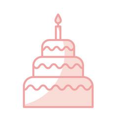 delicious birthday cake icon vector image