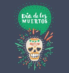 dia de los muertos day dead poster vector image