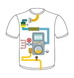 Digestive tract of beer lover larynx alcohol tank vector