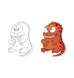 dinosaurs monster cartoon character for kid vector image