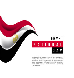 Egypt national day template design vector