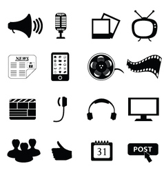 entertainment icons vector image