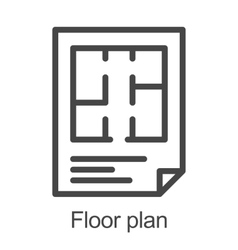 Flat floor plan icon vector