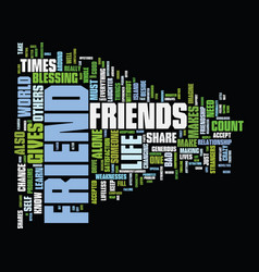 Friends are novelties text background word cloud vector