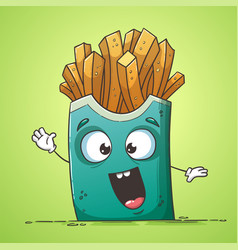 Funny french fries vector