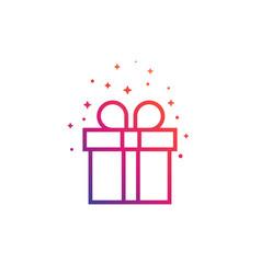 Gift box icon linear vector