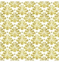 Gold damascus pattern vector