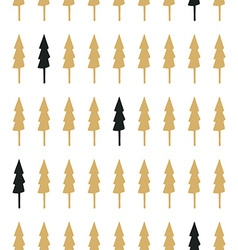 Hand drawn seamless pattern with christmas trees vector