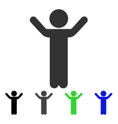 Hands up child flat icon vector