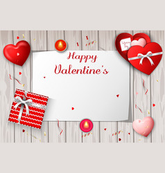 happy valentines day greeting banner vector image