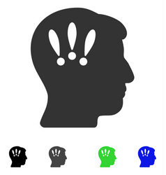 Head problems flat icon vector