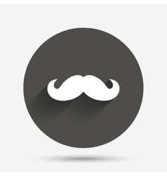 Hipster mustache sign icon Barber symbol vector image