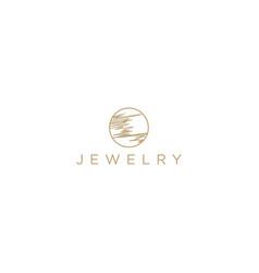 Jewelry golden brand identity product - luxury vector