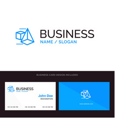 logo and business card template for 3dmodel 3d vector image
