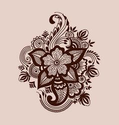 Mehndi ornament vector