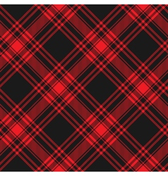 Menzies tartan black red kilt diagonal fabric vector image