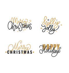 merry christmas lettering sign greeting text candy vector image