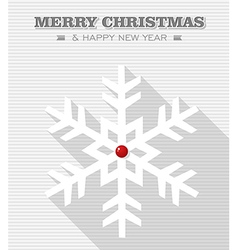 Merry Christmas red dot snowflake vector image