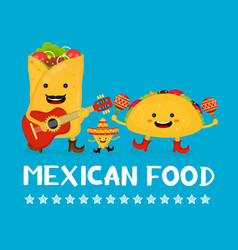 Mexican food creative card concept vector