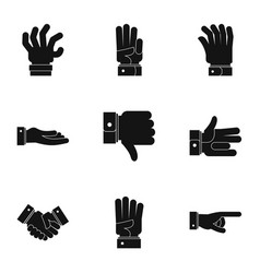 mime icons set simple style vector image