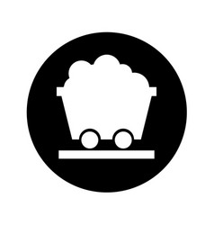 Mine wagon isolated icon vector