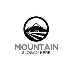 mountain logo designs modern and simple icon vector image