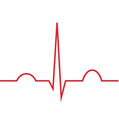 Normal heart rhythm ekg line symbol vector