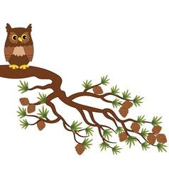 Owl on Branch vector