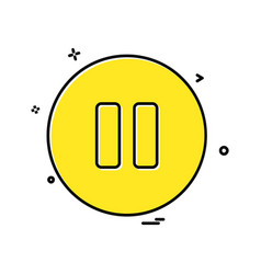 pause button icon design vector image